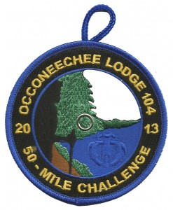 The blue border eX2013-9 was issued to cub scout participants that hiked a portion of the trail.