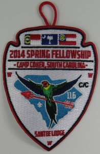 Santee Lodge 116 Spring Fellowship Patch
