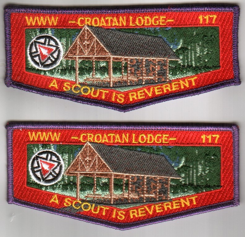 croatan lodge 117 100th anniversary flaps
