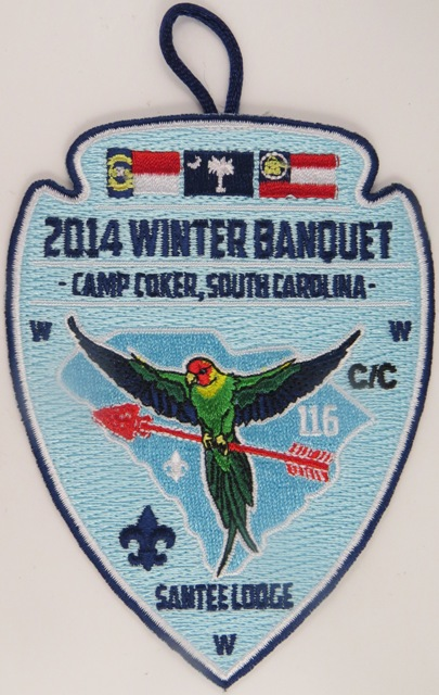 Santee Lodge 116 Winter Banquet 2014 Patch
